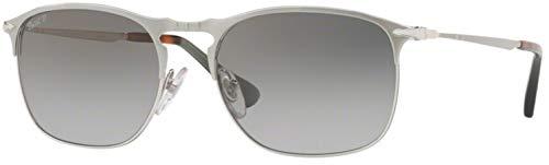 (Persol Mens Sunglasses Silver/Green Metal - Polarized - 58mm)