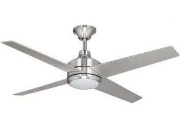 Brushed Nickel Decorator (Home Decorators Mercer 52 in. Brushed Nickel Ceiling Fan)