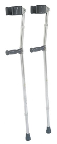 Pivit Lightweight Adjustable Aluminum Forearm Crutches for Short Adults & Kids 4'10