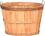 Bushel Basket Heavy Duty - Natural Wood 1/2 Dozen 18'' in diameter x 12'' tall