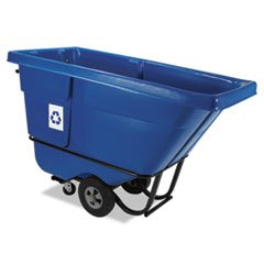 (6 Pack Value Bundle) RCP130573BLU Rotomolded Recycling Tilt Truck, Rectangular, Plastic, 850 lb. Cap., (Plastic Recycling Tilt Truck)