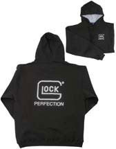 Glock Men\'s Hoodie with Imprint, Black/White, 3X-Large