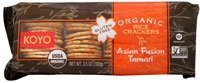 Koyo Organic Rice Crackers Asian Fusion Tamari -- 3.5 Oz (Pack of 12)