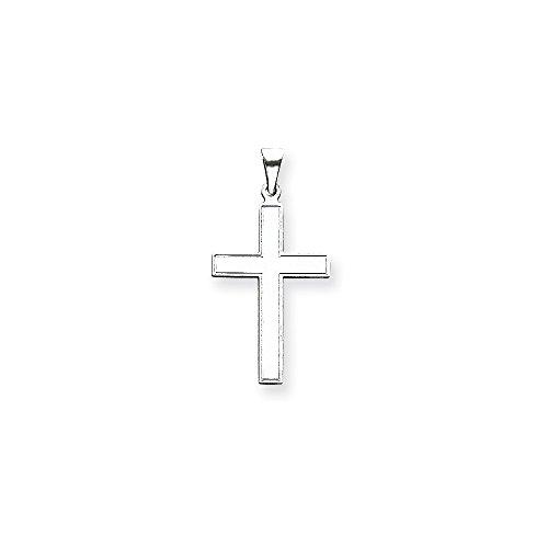 (14k White Gold Florentine Cross Pendant from Roy Rose)