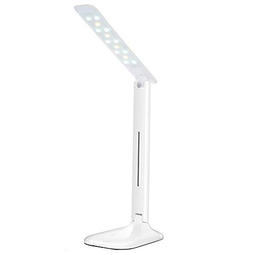 Led Desk Lamp Dimmable Eye-Caring Table Lamp Use ABS Material Lamp with USB Charging Port 2 Color Temperatures 3 Brightness Levels Lighting Modes with Touch Control Metal Swing Arm 5W Dimmable Tab (Eyes Tabs 90)