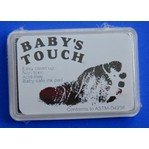 Baby : Baby's Touch Baby Safe Reusable Hand & Foot Print Ink Pads (Black)