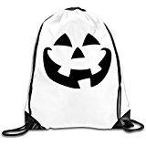 WLF Men's Women's Print Shoulder Drawstring Bag Port Bag Backpacks String Bags School Rucksack Gym Bag Halloween Jack-o-lantern Pumpkin Face White. (Kevin Durant Halloween Costume)