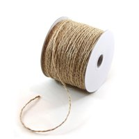 """We Can Package 1/16"""" x 100 yards Burlap Twine Jute String Rope for Crafts Wedding Invitations DIY projects"""