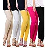 Plain Designer Pure 100% Summer Leggings For Summers With Different 5 Variety of Colours (Combo of 5 leggings Wholesale rate)