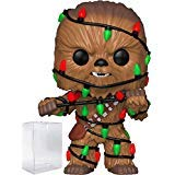 Funko Pop! Star Wars: Holiday - Chewbacca with Christmas Lights Vinyl Figure (Bundled with Pop Box Protector Case) -