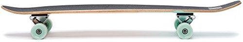 """Ten Toes Board Emporium Zed Bamboo Longboard Skateboard Cruiser, 44"""", Aqua Fishtail"""