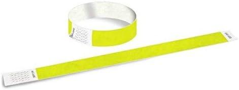 1000 Einlassbänder aus Tyvek 19mm (Zahle 1000 erhalte 2000) (B-Ware) Farbe Neon-Gelb