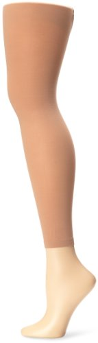 Capezio Women's Hold & Stretch Footless Tight,Light Suntan,Small Dance Footless Tights