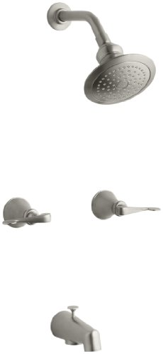 (KOHLER K-16213-4-BN Revival Bath and Shower Faucet, Vibrant Brushed Nickel)