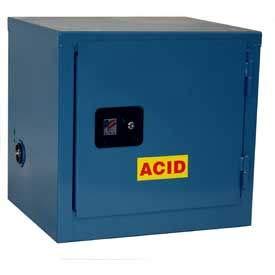 - Global Stackable Acid Corrosive Cabinet - Manual Close Single Door 6 Gallon - 23x18x22 (240978)