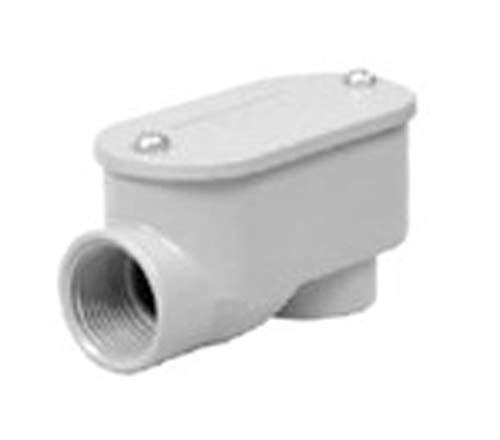TayMac RSLB050 Threaded SLB Type Service Entrance Elbow, Die Cast Aluminum, Cover, 1/2-Inch
