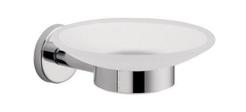 La Toscana AT01 CR Atlanta Clear Glass Soap Holder with Chrome Base (Chrome Atlanta Soap)