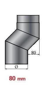 lanzzas humo Tubo estufa (Tubo de separación arco arco Etage doble Offset 80 mm de
