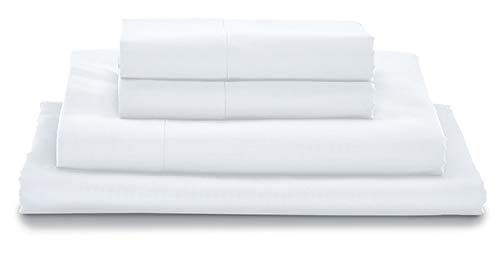 MyPillow Bed Sheet Set 100% Certified Giza Egyptian Long Staple Cotton (Queen, White)
