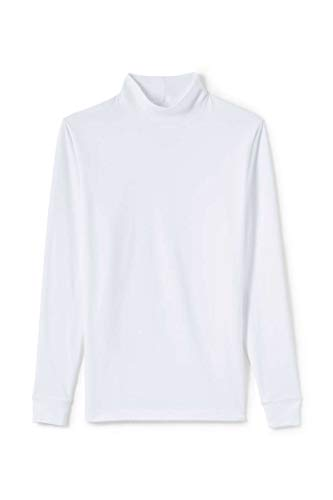 Maks Interlock Knit Mock Turtlenecks Supper Soft 100% Combed Cotton Ski Casual Pullover Top (White, 2XL) ()
