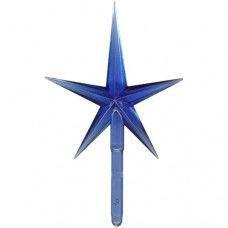 Large Modern Christmas Tree Star BLUE