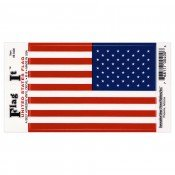 Amercian Flag Reverse Vinyl Decal