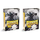 Dragon Shield Bundle: 2 Packs of 60 Count Japanese Size Mini Matte Card Sleeves - Matte Slate
