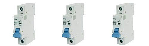 ASI NDB2-63C20-1 DIN Rail Mount Circuit Breaker, UL 1077 Supplemental Protection, 20 amp, 1 Pole, 240V, General Purpose Trip Curve C (3-(Pack))