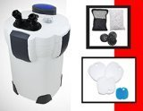 The SunSun HW-304B external 5-stage canister filter with built in UV sterilizer is ideal for tanks up to 150 gallon freshwater or saltwater aquarium. It is capable of handling up to 525 gallons per hour with 4 flexible media trays that allow ...