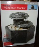 Sarah Peyton Home - Cordless Meditation Fountain - Cut Stone (Faux Rock Waterfall)