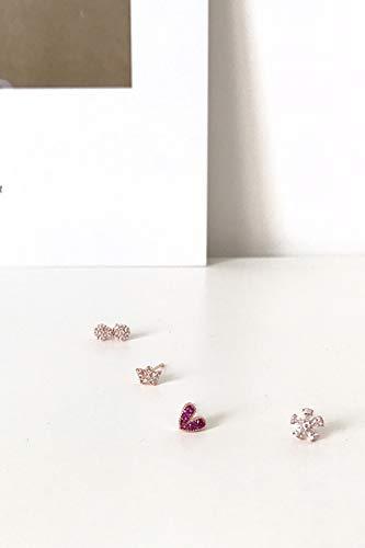 Girls Love Flowers Mini Crown Bow Earrings earings Dangler Eardrop Women Girls Ensemble Routine Compact