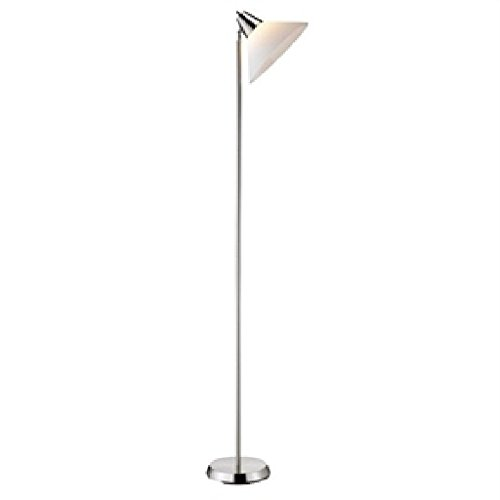 Contemporary Swivel Floor Lamp with Bowl Shade in Satin Steel Finish Lamp Swivel Floor Brass Arm Light Shade Industrial Mid Century (Brass Swivel Arm Floor Lamp)