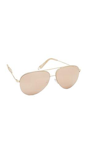 Victoria Beckham Women's Classic Victoria Sunglasses, 18K Gold, One - Sunglasses Aviator Victoria Beckham