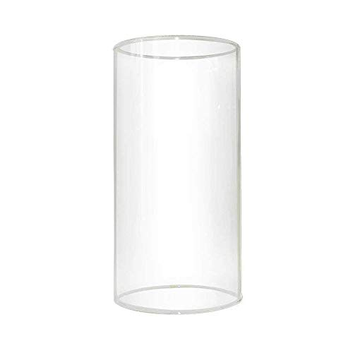 Sunwo Glass Shade Straight Cylinder Glass Lamp Shade Replacement with Multiple Effects (Cylinder Glass Shade Replacement)
