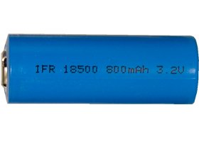 50 X 3.2 Volt 800 Mah Lifepo4 18500 Battery (18 Mm X 50 Mm) by Blue Label