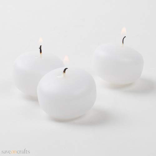 Floating Candles 1.5'' White Set of 120 - Excellent Home Decor - Indoor & Outdoor