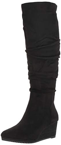 Dr. Scholl's Shoes Women's Central Knee High Boot, Black Microfiber, 6.5 M ()