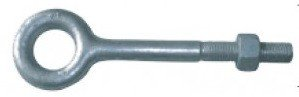 3/4-Inch Eye Bolt with Nut - 8 Inch Shank Length (3/4-10 UNC Thread) - Forged Steel by AZ Lifting Hardware