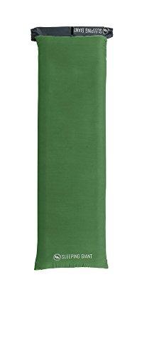 Inflatable Sleeping Pad Petite - Big Agnes Sleeping Giant Memory Foam Pad Cover, Green/Blue, 20x66 Petite