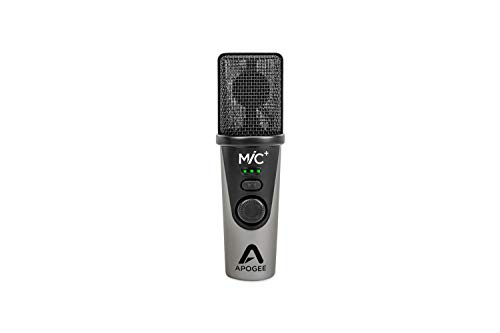 Apogee MiC Plus – USB Microphone with Cardioid Condenser Mic Capsule, for Capturing Vocals and Instruments, Streaming, Podcasting, and Gaming, Made in USA