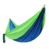 (Alfresco Twice Hummock - 260x145cm Outdoor Double Hammock Portable Parachute Nylon Hanging Swing Bed Travel Camping - Equivocal Ambiguou Stunt Woman Twofold Two-Bagger Forked - 1PCs)