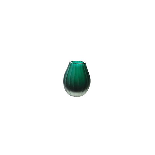 CRISTALICA Vase, Flower vase, Bouquet Vase, Collection JOZY, glass, jade, H=10,5 cm, handmade-Unique glass vase(GERMAN CRYSTAL powered by