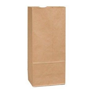 """Duro Hilex 80064 Paper Heavy Husky Duty Grocery Bag, 7-3/4"""" Length x 4-11/16"""" Width x 16"""" Height, Brown (Pack of 500)"""