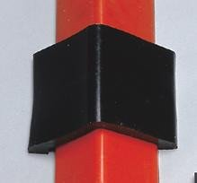 "UltraTech 10"" X 4"" X 2 1/4"" Black Polyurethane Connector For Ultra-Spill® Berm"