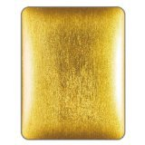 NavJack Glass Fiber Backed Hard Shell Case with Cloth Lined Inner Face for iPad Corium - Glitter Fiber - Gold (NJ-J012-44)