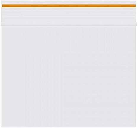 Lot de 100 sachets Zip 60x80mm 90 microns Orange