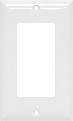 GE Single Rocker Switch Wall Plate, White Nylon (Single Rocker Wall Plate)