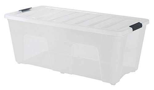 IRIS Stack & Pull Clear Storage Box, 53 Quarts -  100245