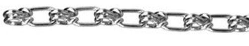11//64 Diameter x 100 Length ASC MC1275031 Low Carbon Steel Lock Link Single Loop Chain Zinc Plated 580 lbs Working Load Limit 5//0 Trade