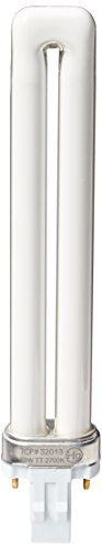 TCP Fluorescent Twin Tube PL Lamp, 13W (800 Lumens) Soft White (2700K) 2-Pin (GX23 base) 2700k Twin Tube